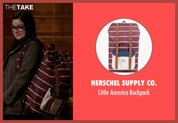 Herschel Supply Co. red backpack from Modern Family seen with Alex Dunphy  (Ariel Winter)