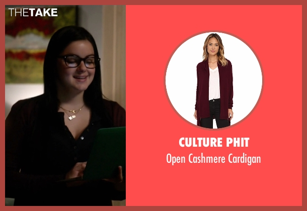 Culture Phit red cardigan from Modern Family seen with Alex Dunphy  (Ariel Winter)