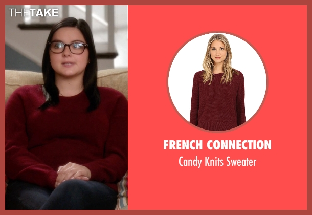 French Connection red sweater from Modern Family seen with Alex Dunphy  (Ariel Winter)