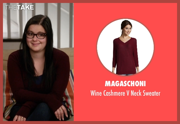 Magaschoni red sweater from Modern Family seen with Alex Dunphy  (Ariel Winter)