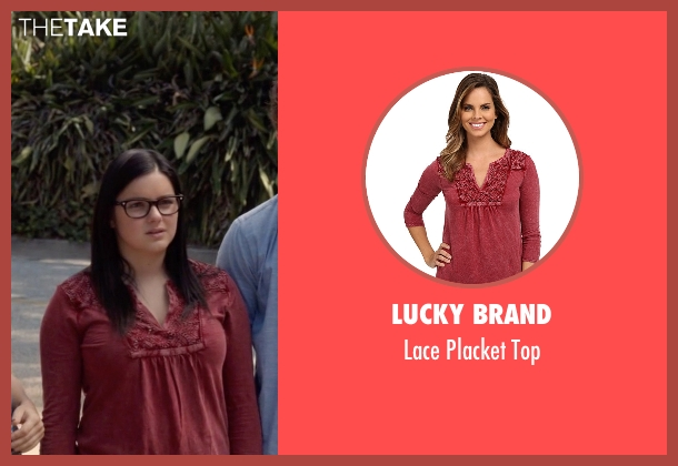 Lucky Brand red top from Modern Family seen with Alex Dunphy  (Ariel Winter)