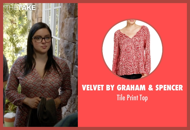 Velvet By Graham & Spencer red top from Modern Family seen with Alex Dunphy  (Ariel Winter)