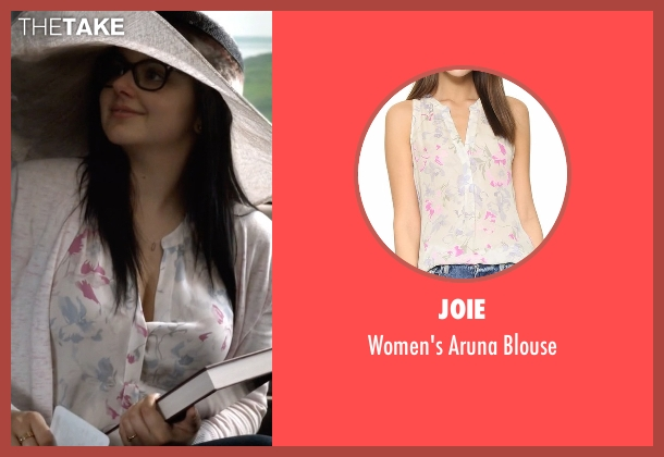 Joie white blouse from Modern Family seen with Alex Dunphy  (Ariel Winter)