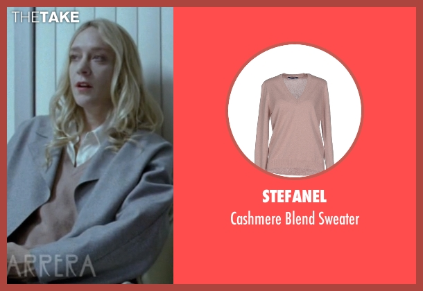 Stefanel beige sweater from American Horror Story seen with Alex Lowe (Chloë Sevigny)