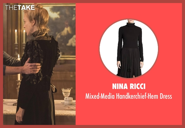 Nina Ricci black dress from American Horror Story seen with Alex Lowe (Chloë Sevigny)