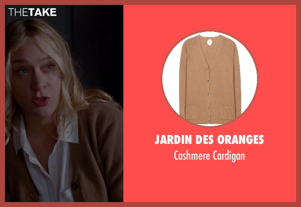Jardin des Oranges brown cardigan from American Horror Story seen with Alex Lowe (Chloë Sevigny)