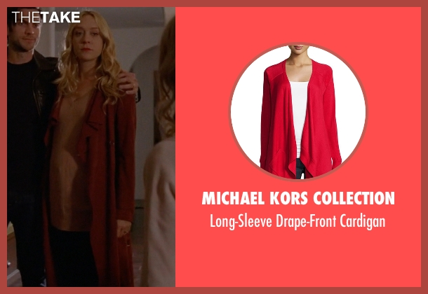 Michael Kors Collection red cardigan from American Horror Story seen with Alex Lowe (Chloë Sevigny)