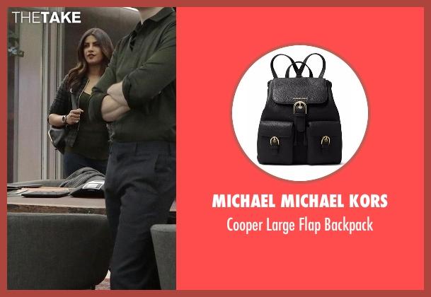 Michael Michael Kors black backpack from Quantico seen with Alex Parrish (Priyanka Chopra)