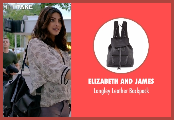 Elizabeth and James black backpack from Quantico seen with Alex Parrish (Priyanka Chopra)