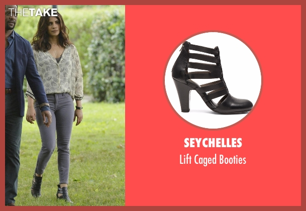 Seychelles black booties from Quantico seen with Alex Parrish (Priyanka Chopra)