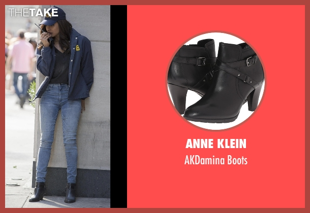 Anne Klein black boots from Quantico seen with Alex Parrish (Priyanka Chopra)