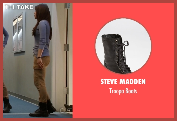 Steve Madden black boots from Quantico seen with Alex Parrish (Priyanka Chopra)
