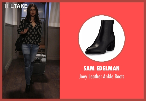 Sam Edelman black boots from Quantico seen with Alex Parrish (Priyanka Chopra)