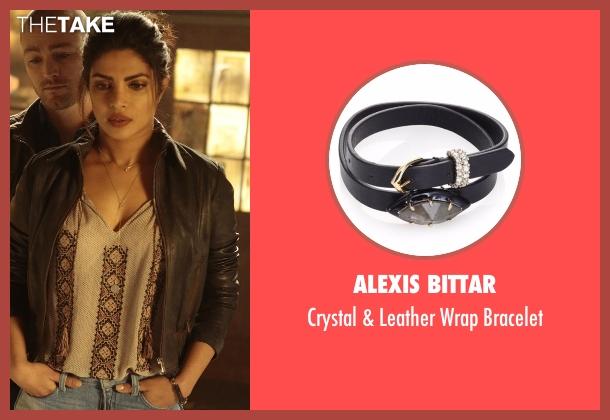 Alexis Bittar black bracelet from Quantico seen with Alex Parrish (Priyanka Chopra)