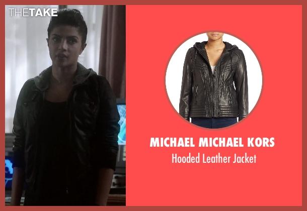Michael Michael Kors black jacket from Quantico seen with Alex Parrish (Priyanka Chopra)