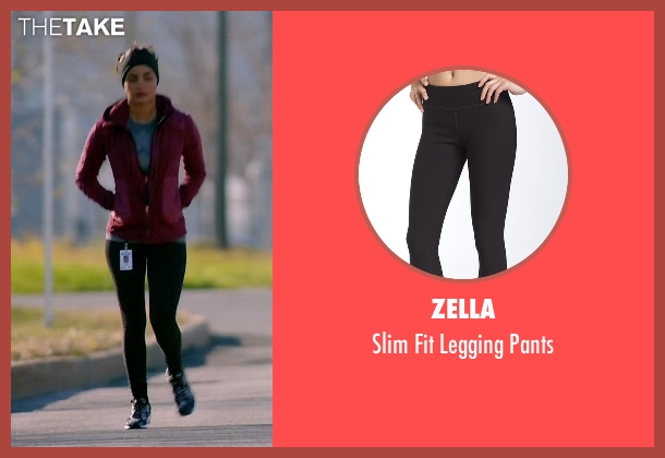 Zella black pants from Quantico seen with Alex Parrish (Priyanka Chopra)