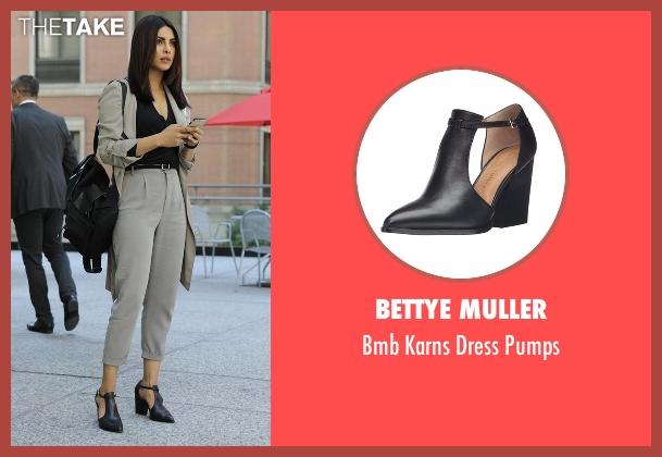 Bettye Muller black pumps from Quantico seen with Alex Parrish (Priyanka Chopra)