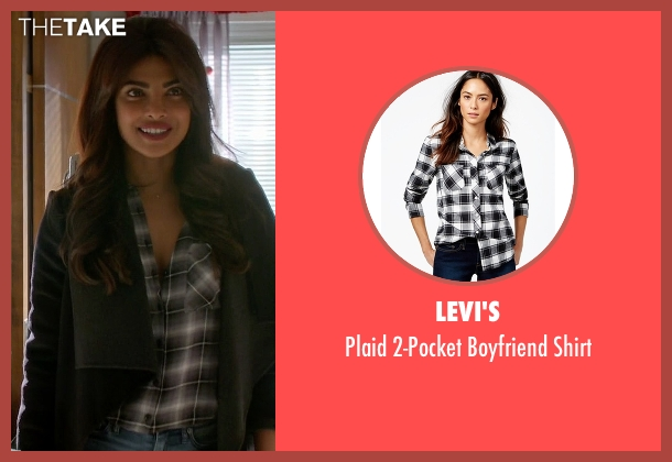 Levi's black shirt from Quantico seen with Alex Parrish (Priyanka Chopra)