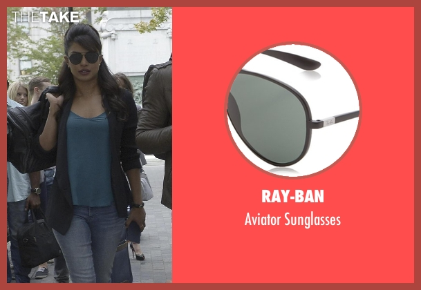 Ray-ban black sunglasses from Quantico seen with Alex Parrish (Priyanka Chopra)