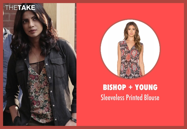 Bishop + Young blouse from Quantico seen with Alex Parrish (Priyanka Chopra)