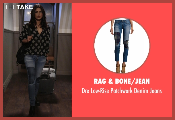 Rag & Bone/Jean blue jeans from Quantico seen with Alex Parrish (Priyanka Chopra)