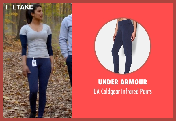 Under Armour blue pants from Quantico seen with Alex Parrish (Priyanka Chopra)
