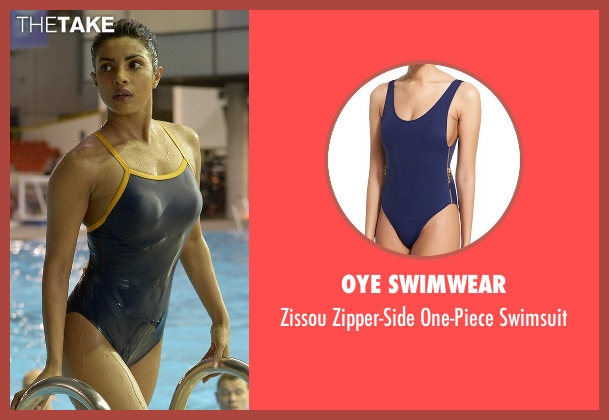 Oye Swimwear blue swimsuit from Quantico seen with Alex Parrish (Priyanka Chopra)