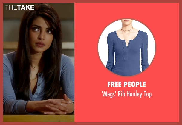 Karen Scott blue top from Quantico seen with Alex Parrish (Priyanka Chopra)