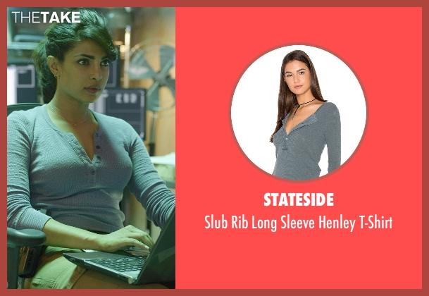 Stateside blue t-shirt from Quantico seen with Alex Parrish (Priyanka Chopra)