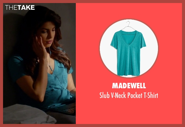 Madewell blue t-shirt from Quantico seen with Alex Parrish (Priyanka Chopra)
