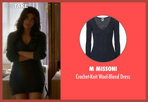 M Missoni gray dress from Quantico seen with Alex Parrish (Priyanka Chopra)