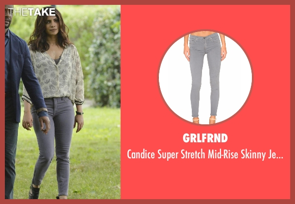 Grlfrnd gray jeans from Quantico seen with Alex Parrish (Priyanka Chopra)