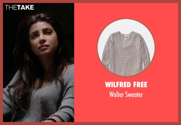 Wilfred Free gray sweater from Quantico seen with Alex Parrish (Priyanka Chopra)