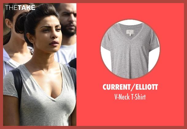 Current/Elliott gray t-shirt from Quantico seen with Alex Parrish (Priyanka Chopra)