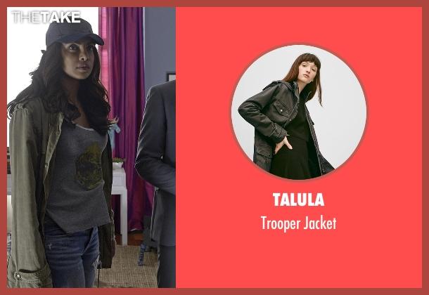 Talula green jacket from Quantico seen with Alex Parrish (Priyanka Chopra)