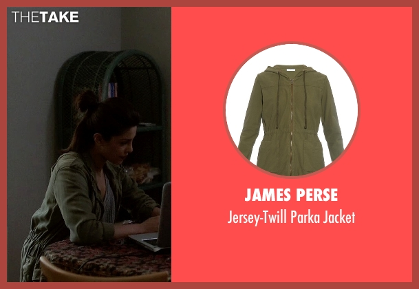 James Perse green jacket from Quantico seen with Alex Parrish (Priyanka Chopra)