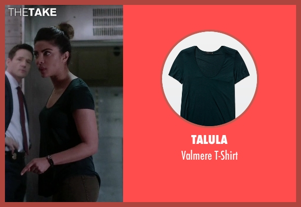 Talula green t-shirt from Quantico seen with Alex Parrish (Priyanka Chopra)
