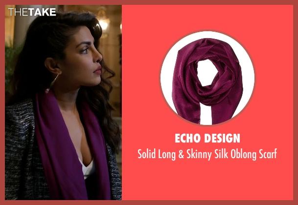 Echo Design purple scarf from Quantico seen with Alex Parrish (Priyanka Chopra)