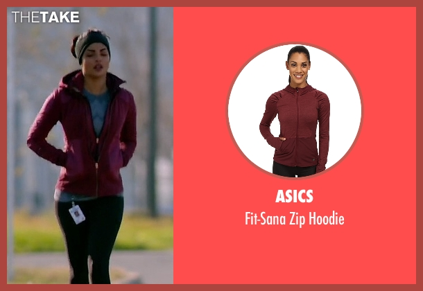 Asics red hoodie from Quantico seen with Alex Parrish (Priyanka Chopra)