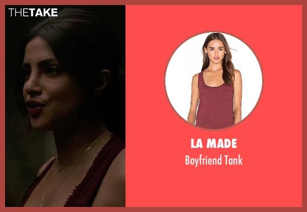 LA Made  red tank from Quantico seen with Alex Parrish (Priyanka Chopra)