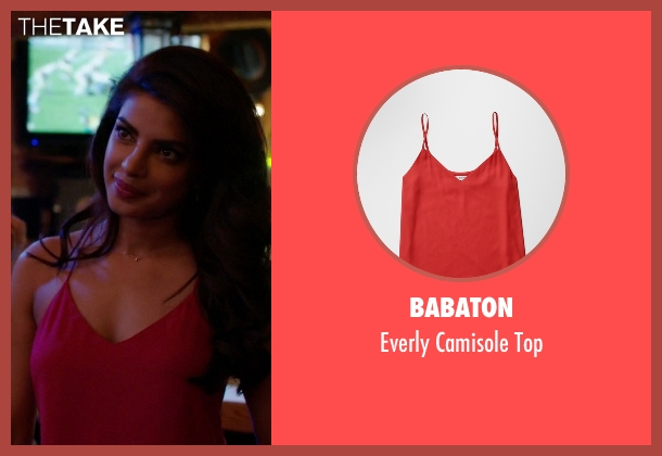 Babaton red top from Quantico seen with Alex Parrish (Priyanka Chopra)