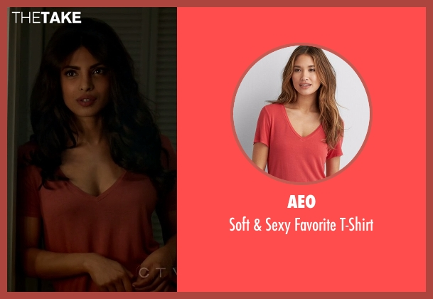 Aeo red t-shirt from Quantico seen with Alex Parrish (Priyanka Chopra)