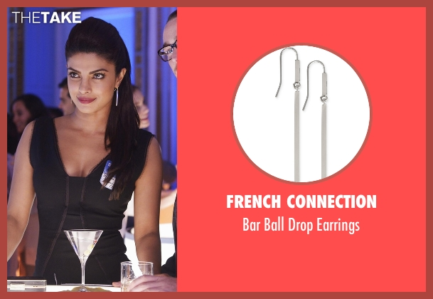 French Connection silver earrings from Quantico seen with Alex Parrish (Priyanka Chopra)