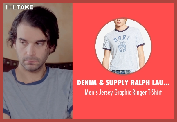 Denim & Supply Ralph Lauren blue t-shirt from Joshy seen with Alex Ross Perry (Adam)