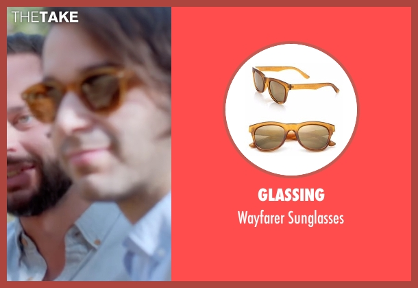 Glassing brown sunglasses from Joshy seen with Alex Ross Perry (Adam)