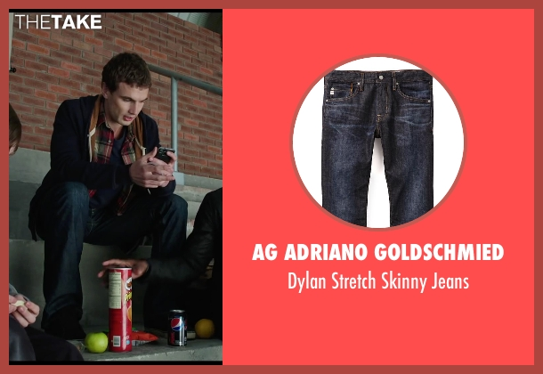 AG Adriano Goldschmied blue jeans from Chronicle seen with Alex Russell (Matt Garetty)