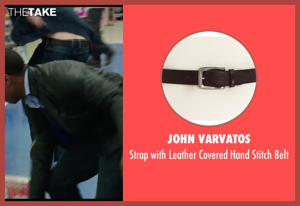 John Varvatos brown belt from Chronicle seen with Alex Russell (Matt Garetty)