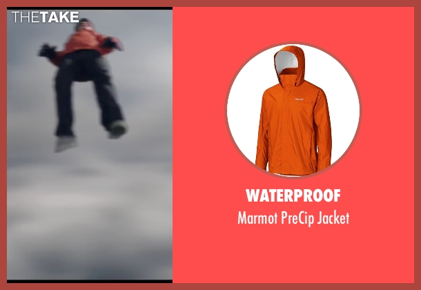 Waterproof orange jacket from Chronicle seen with Alex Russell (Matt Garetty)