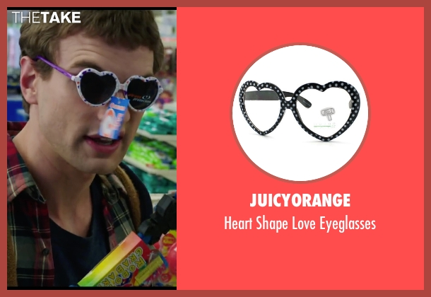 JuicyOrange purple eyeglasses from Chronicle seen with Alex Russell (Matt Garetty)