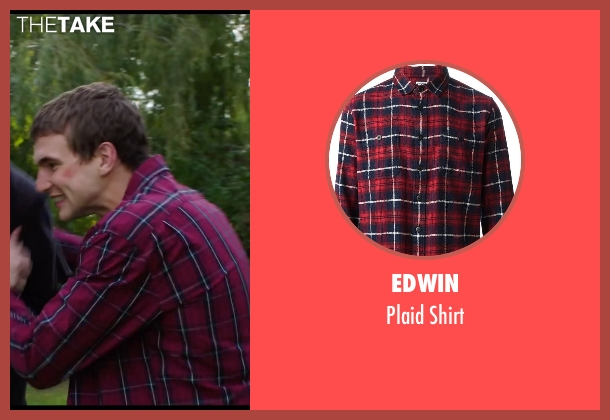 Edwin red shirt from Chronicle seen with Alex Russell (Matt Garetty)